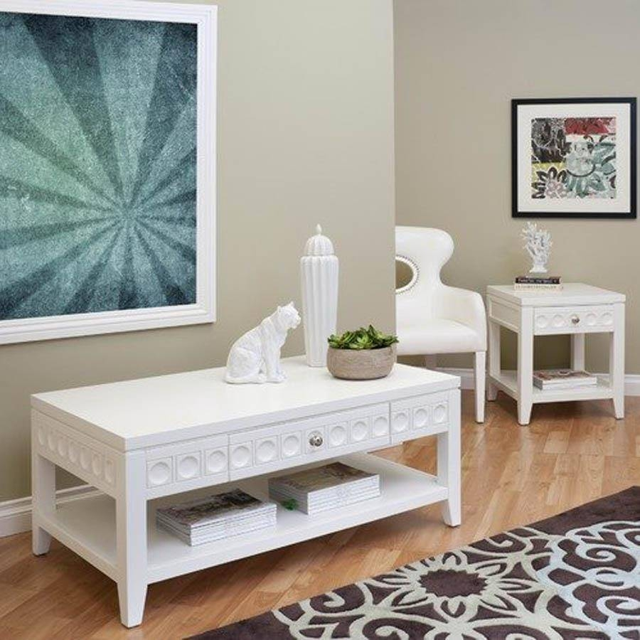 Modern Coffee Table Sets Square regarding Square White Coffee Tables (Image 21 of 30)