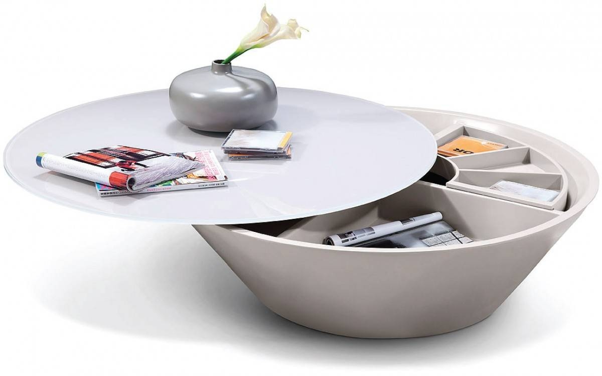 Modern Coffee Table Storage Great Round Coffee Table On Mirrored inside Round Mirrored Coffee Tables (Image 22 of 30)