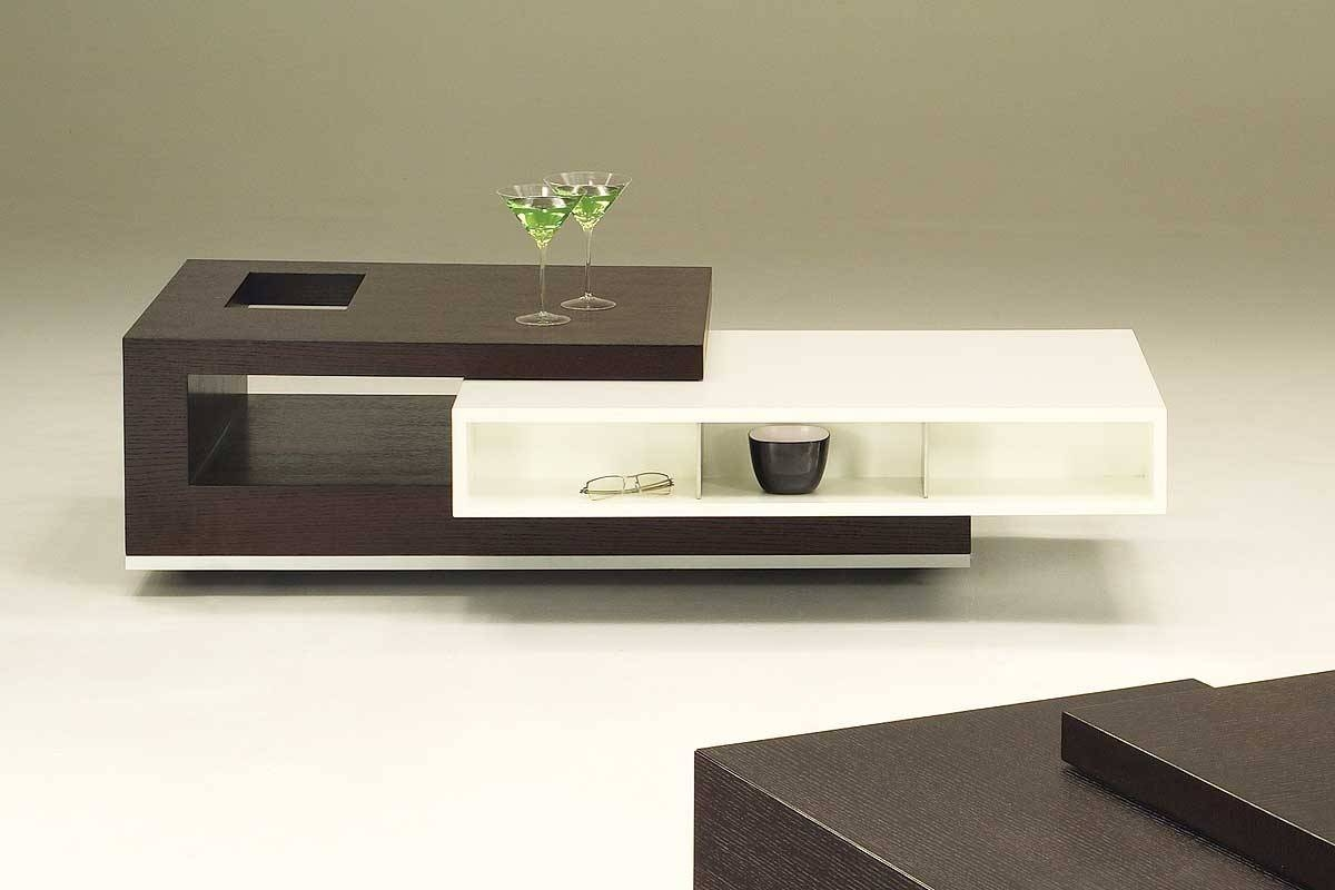 Modern Coffee Table With Storage — Optimizing Home Decor Ideas in White and Brown Coffee Tables (Image 25 of 30)