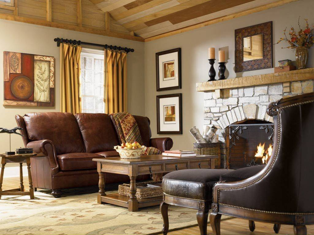 Modern Country Living Room Wooden Shelves Multicolors Cushions for Cream Colored Sofa (Image 14 of 25)