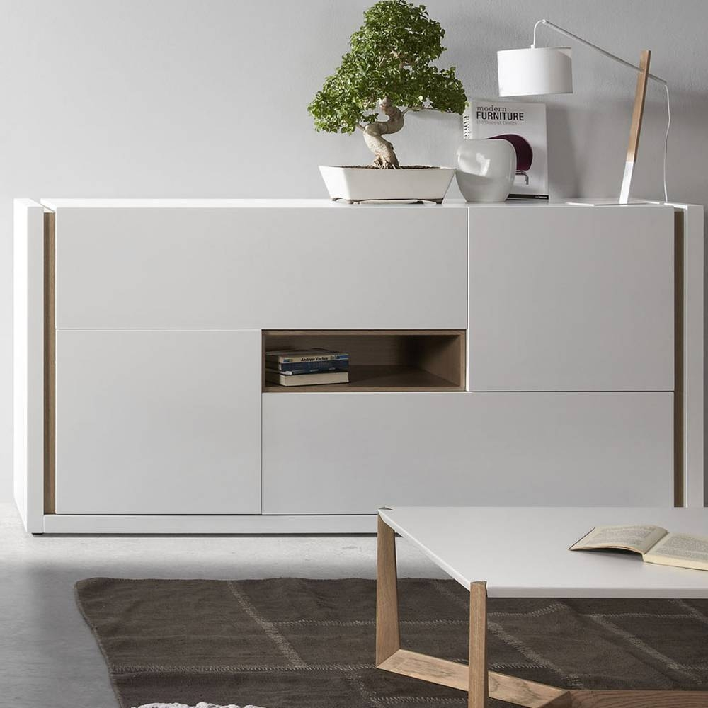 Modern Design Laquered Wood Sideboard Giove for Grey Wood Sideboards (Image 12 of 30)