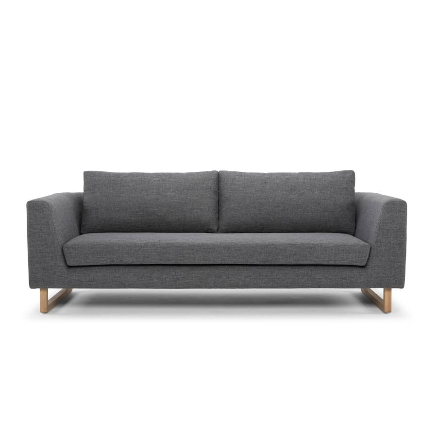 Modern Designer 3 Seater Sofa - Steel regarding Modern 3 Seater Sofas (Image 22 of 30)