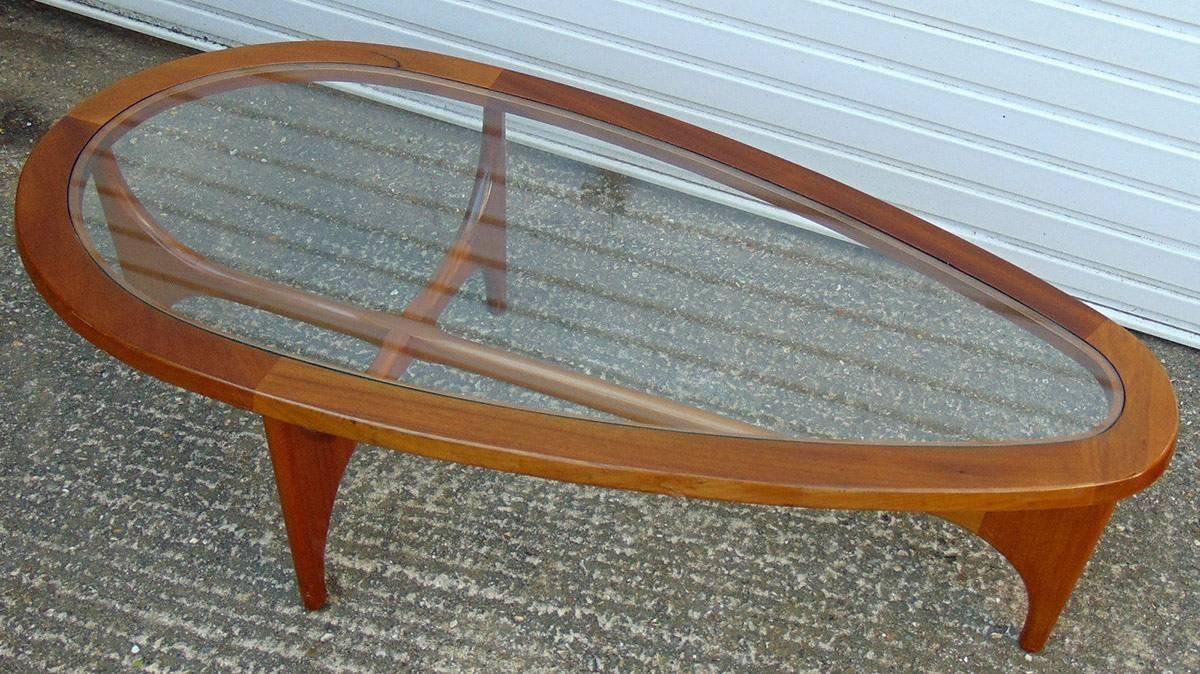 Modern Designer Marble Coffee Table – Black Steel Metal Base Inside Retro Teak Glass Coffee Tables (View 19 of 30)