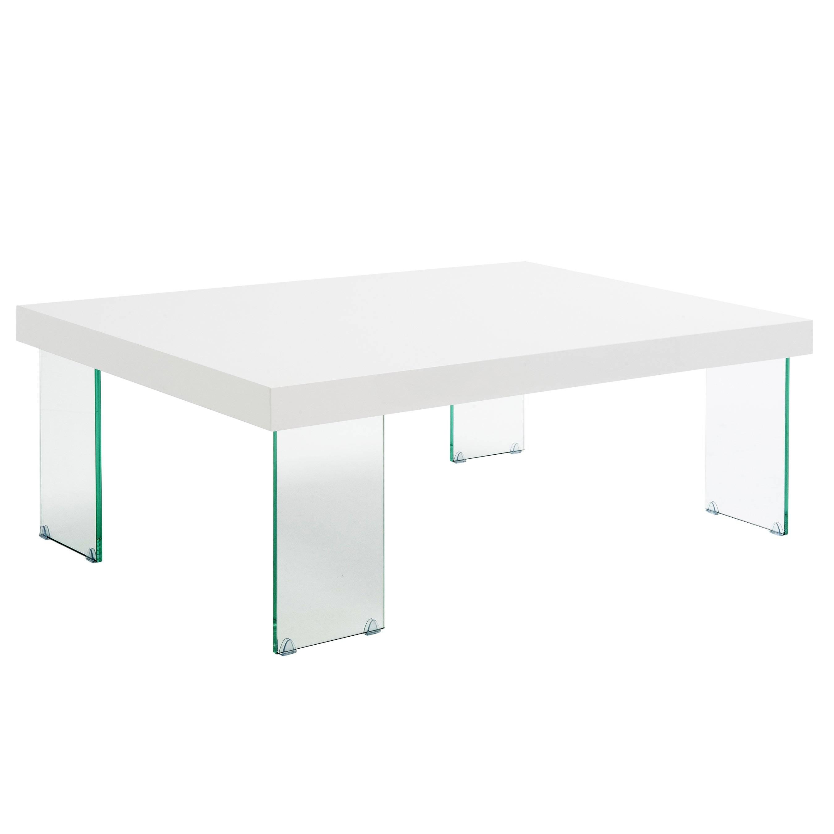 Modern Elena Coffee Table Clear Glass/black Border Coffee Table inside Elena Coffee Tables (Image 26 of 30)