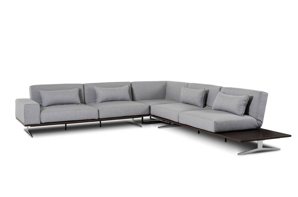 Modern Fabric Sectional Sofa inside Fabric Sectional Sofa (Image 17 of 30)
