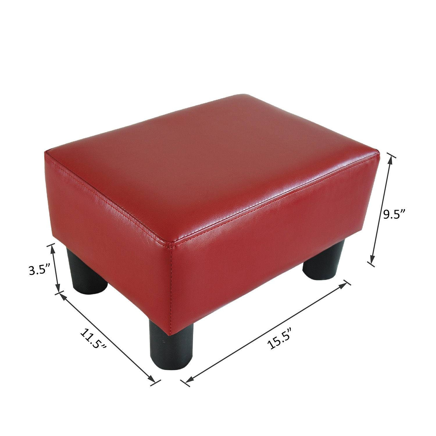 Modern Faux Leather Ottoman Footrest Stool Foot Rest Small Chair regarding Coffee Table Footrests (Image 24 of 30)