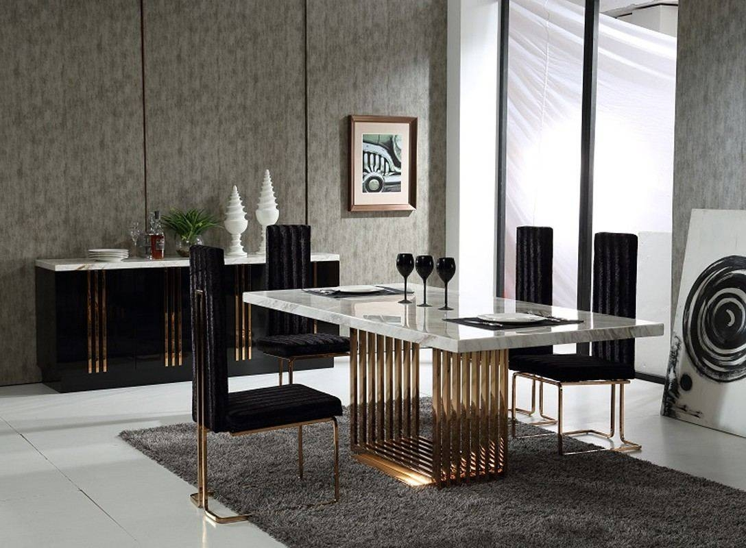 Modern Formal Dining Room Rectangular White Polished Wooden Dining with Glass Sideboards for Dining Room (Image 16 of 30)
