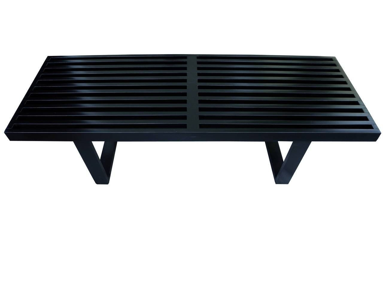 Modern George Nelson Black Slatted Bench/coffee Table For Herman in Nelson Coffee Tables (Image 15 of 30)