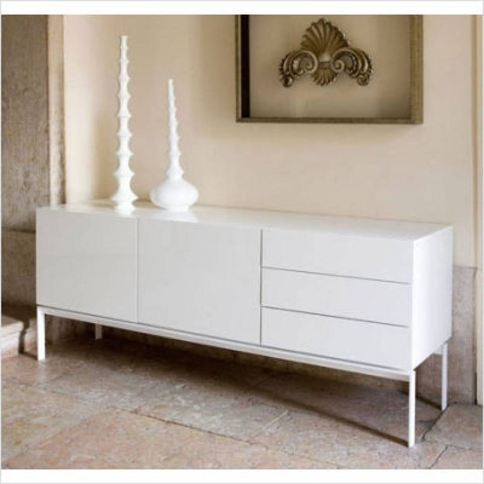 Modern Glare Sideboard, Buffet In White Lacquer regarding Gloss White Sideboards (Image 18 of 30)