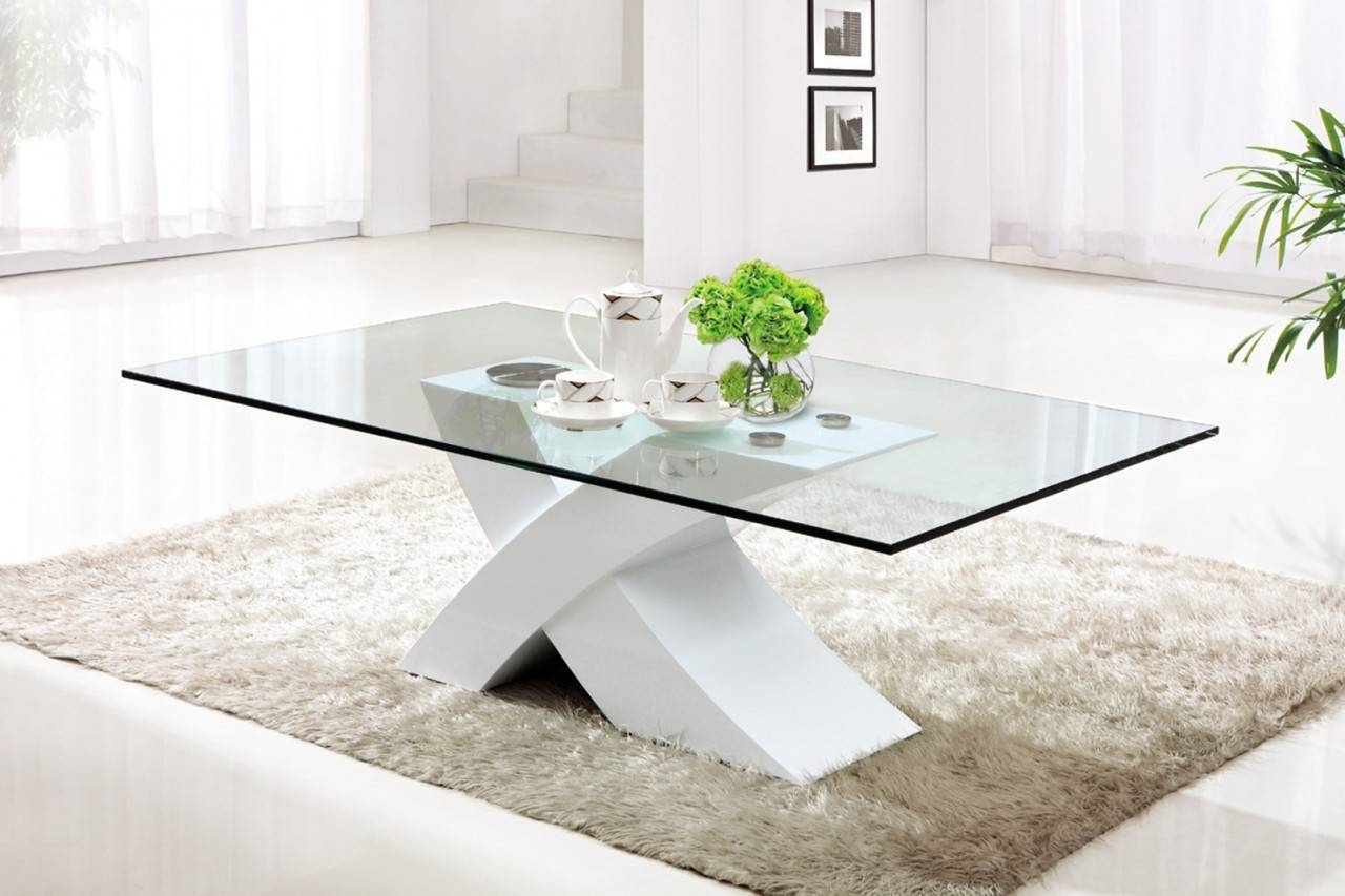 Modern Glass Square Coffee Table Table Design Ideas With Stainless inside White Wood And Glass Coffee Tables (Image 21 of 30)