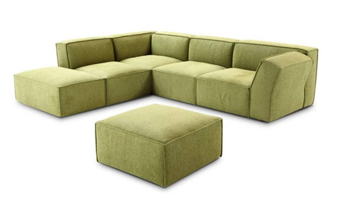 Modern Green Fabric Sectional Sofa with Green Sectional Sofa (Image 17 of 30)