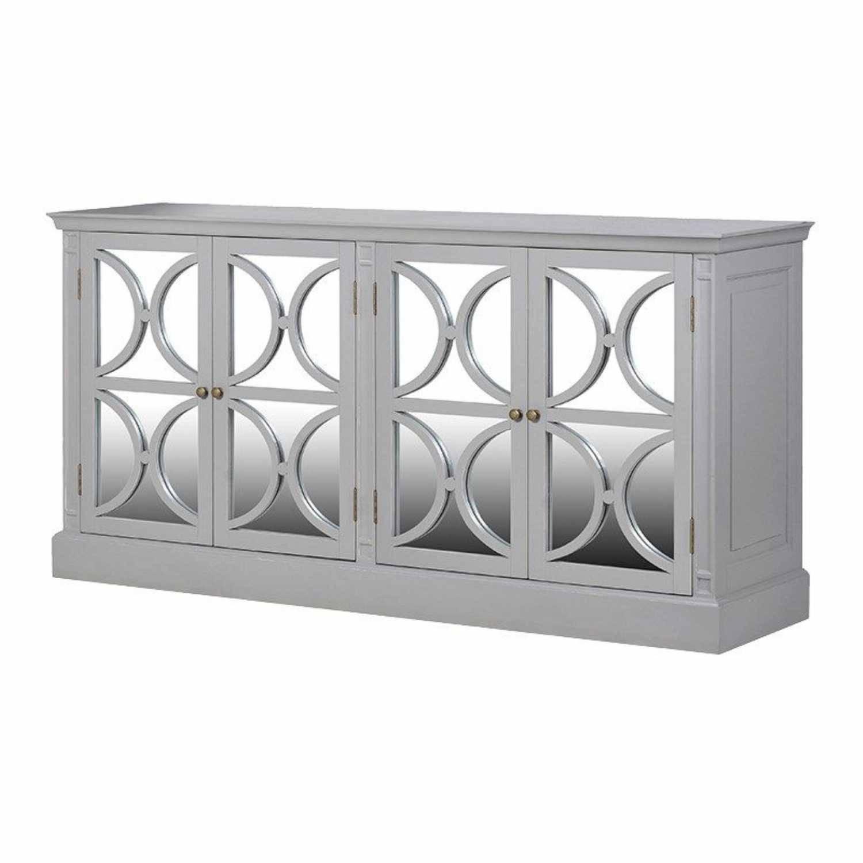 Modern Grey Fayence 4 Door Decorative Mirrored Sideboard for Venetian Mirrored Sideboards (Image 15 of 30)
