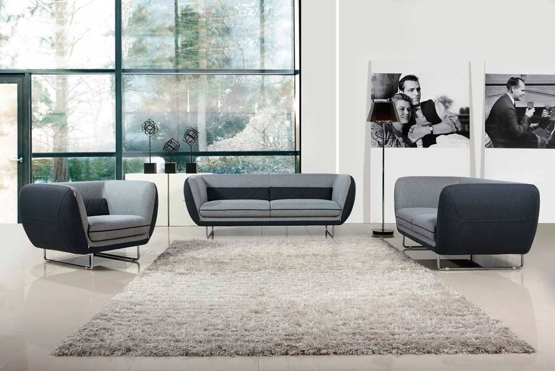 Modern Grey Two Tone Fabric Sofa Set Vg360 | Fabric Sofas for Two Tone Sofas (Image 19 of 30)