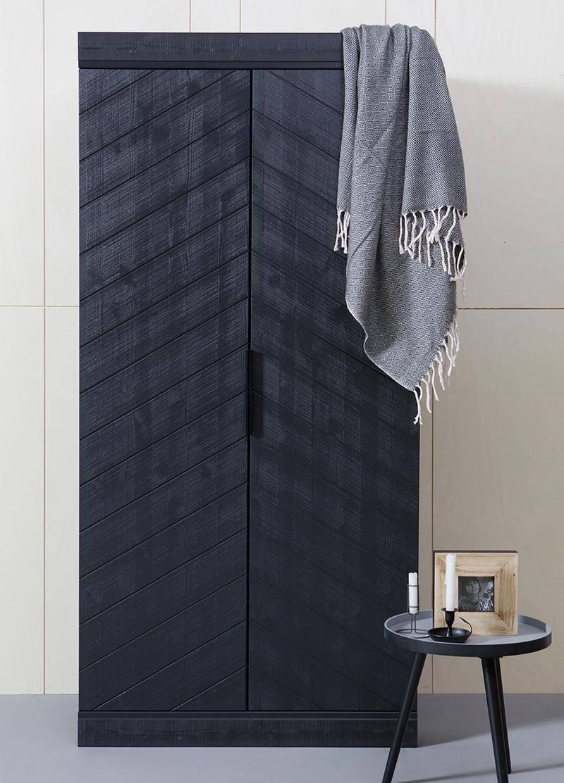 Modern Industrial Style Black Wardrobe inside Industrial Style Wardrobes (Image 10 of 15)