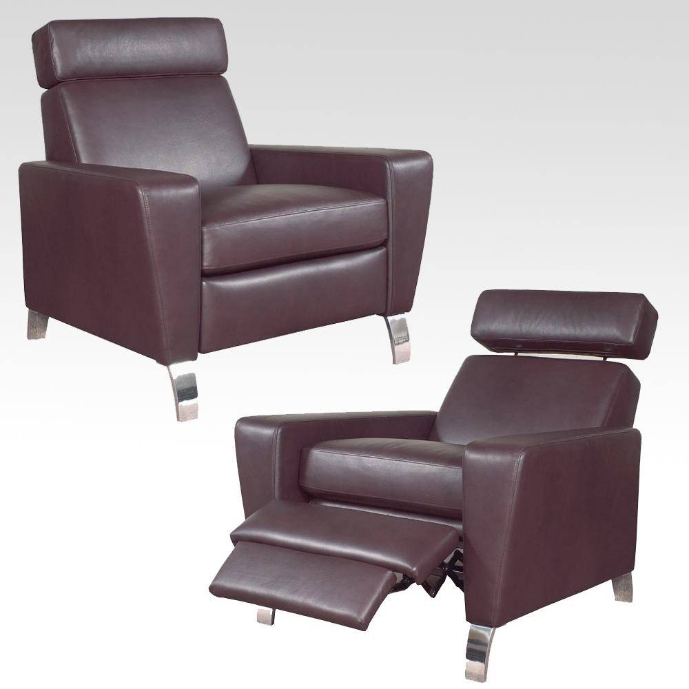 Modern Leather Chair. Recliner Chairs For Your Furniture Ideas intended for Modern Reclining Leather Sofas (Image 16 of 30)