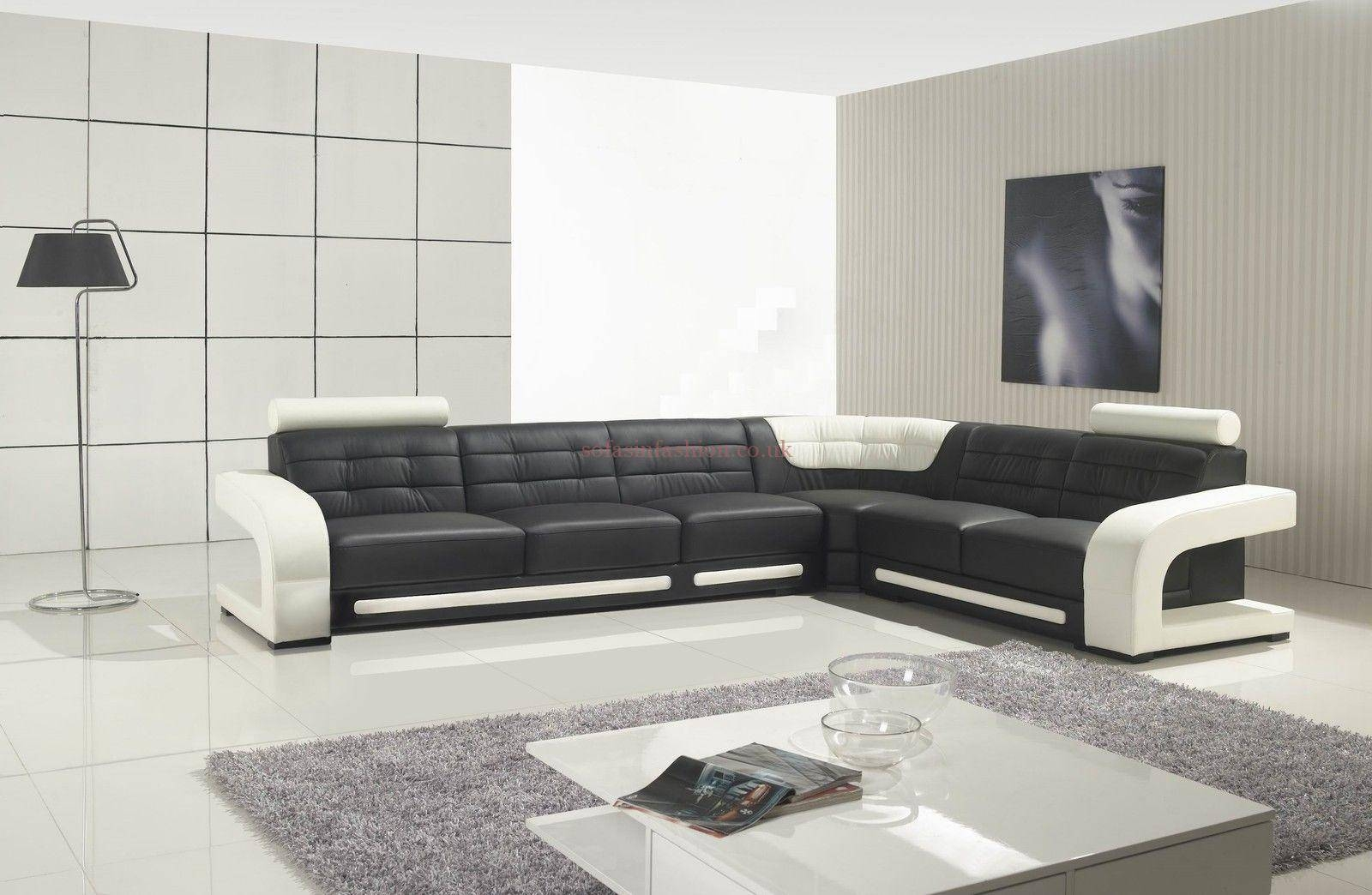 Modern Leather Corner Sofas With Modular Leather Corner Sofa with regard to Large Black Leather Corner Sofas (Image 21 of 30)