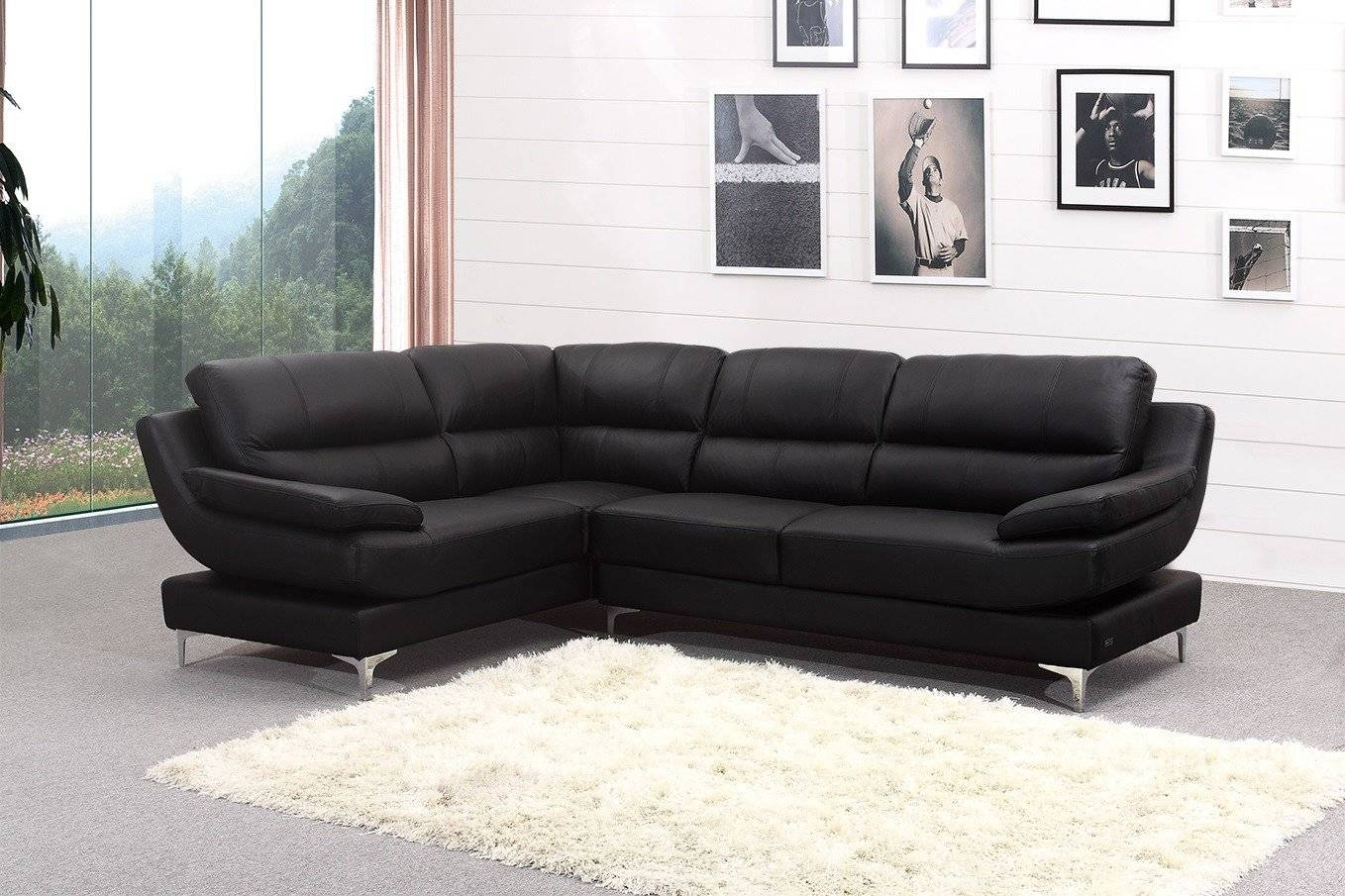 Modern Leather Corner Sofas With Modular Leather Corner Sofa within Large Black Leather Corner Sofas (Image 23 of 30)