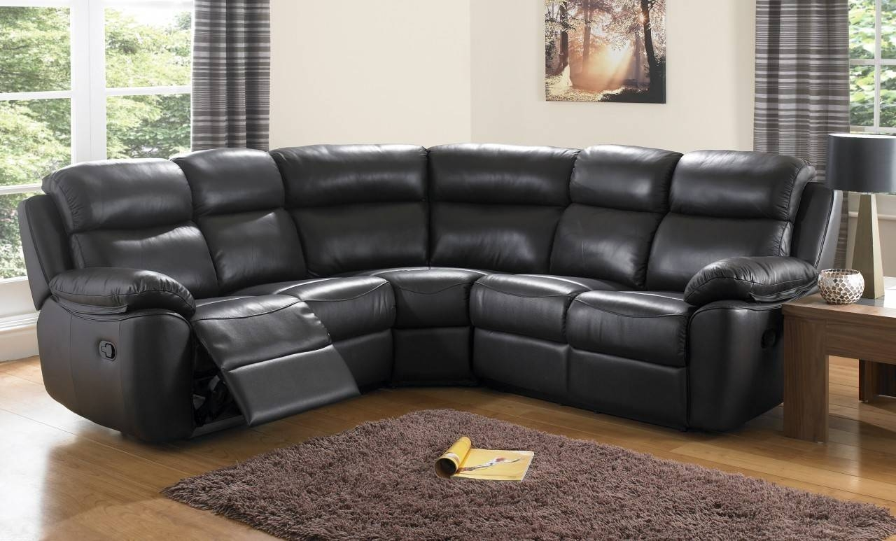 Modern Leather Corner Sofas With Modular Leather Corner Sofa within Large Black Leather Corner Sofas (Image 22 of 30)