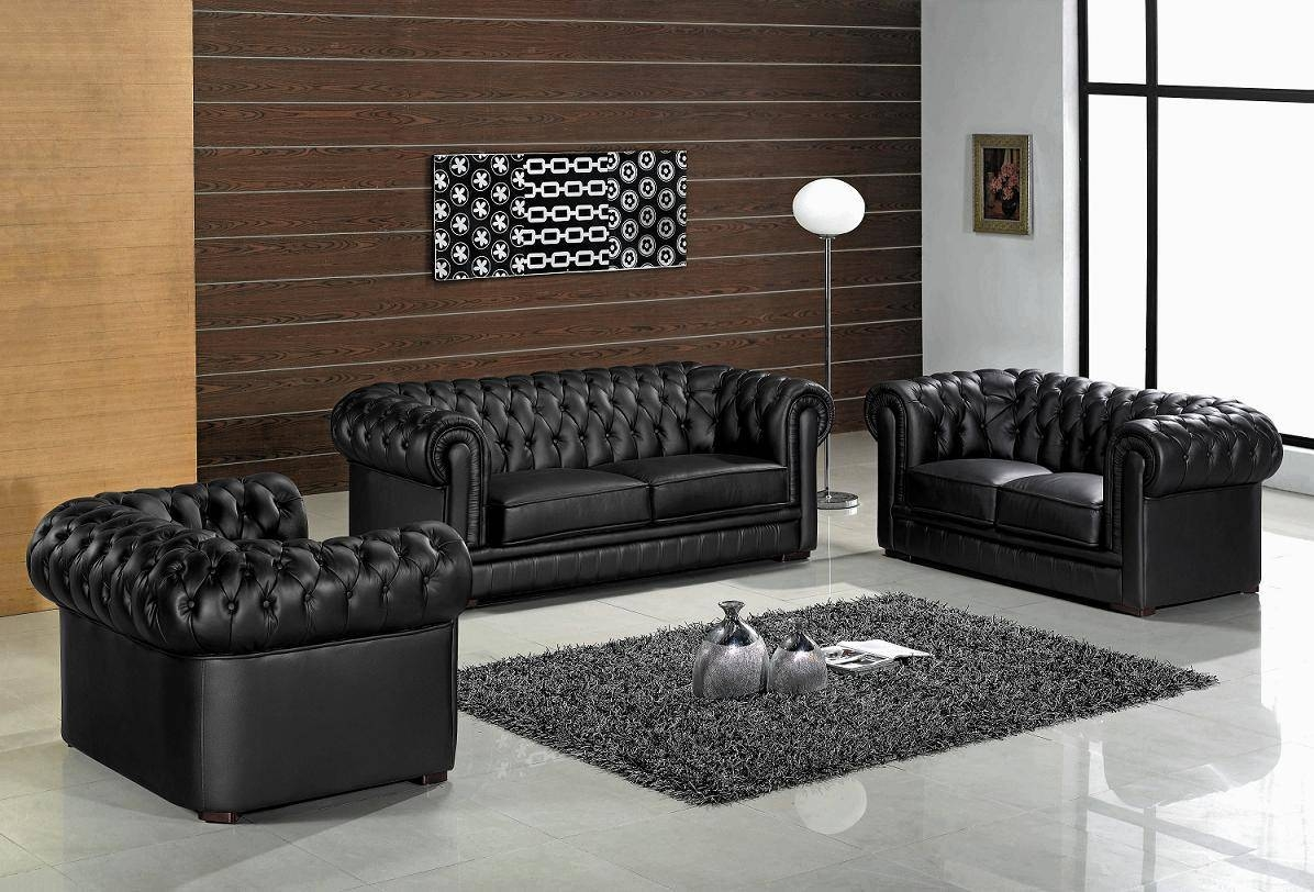 Modern Leather Living Room Furniture With , Modern Leather within Living Room Sofas (Image 25 of 30)