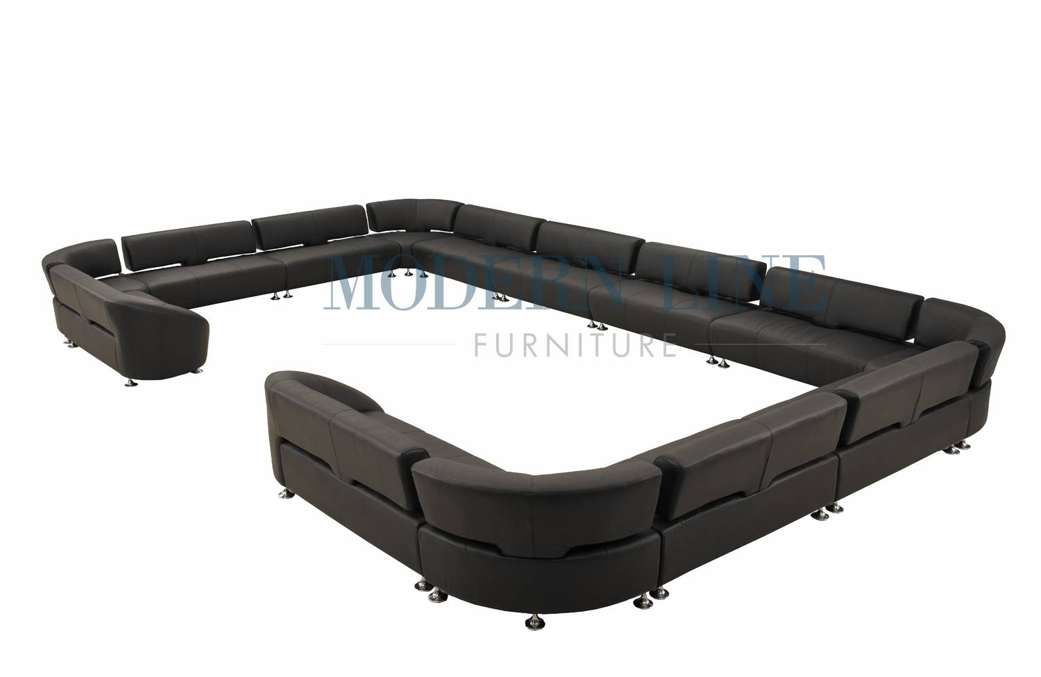 Modern Line Furniture - Commercial Furniture - Custom Made for C Shaped Sectional Sofa (Image 20 of 30)