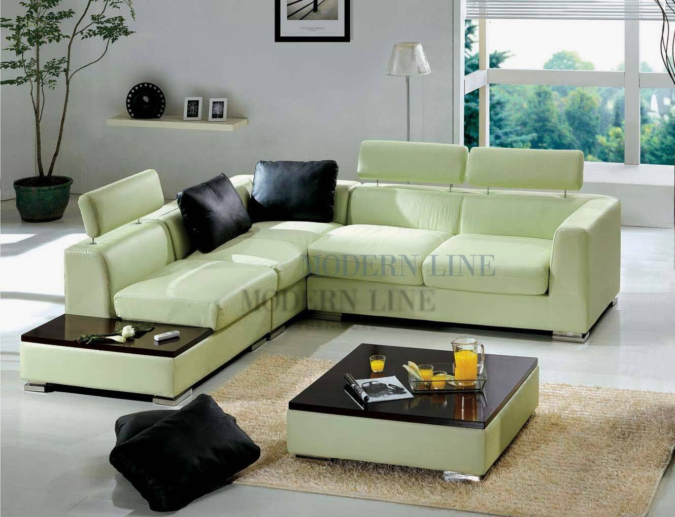 30 photos green sectional sofa for Modern line furniture