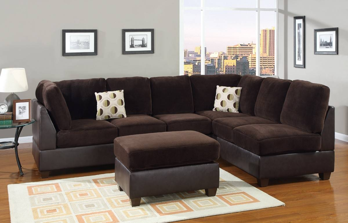 Modern Living Room Decor With Bemerkenswert Suede Sectional Sofas Within Soft Sectional Sofas (View 20 of 30)