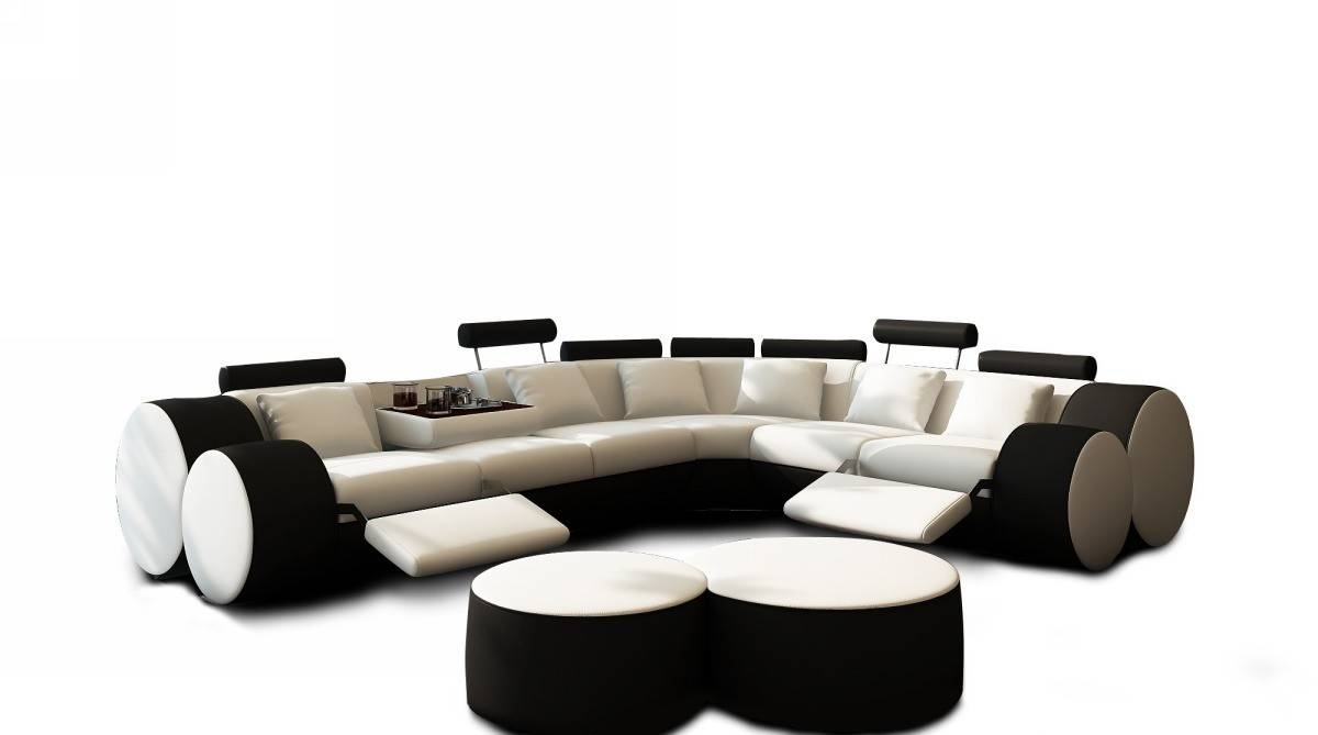 Modern Living Room Furniture Free Shipping Around Miami. - Vase intended for Black and White Sectional Sofa (Image 23 of 30)