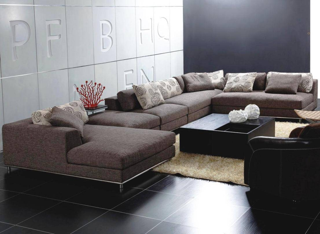 Modern Living Room With Big Lots Sectional Sofa Ikea, And Glossy throughout Big Sofas Sectionals (Image 20 of 30)