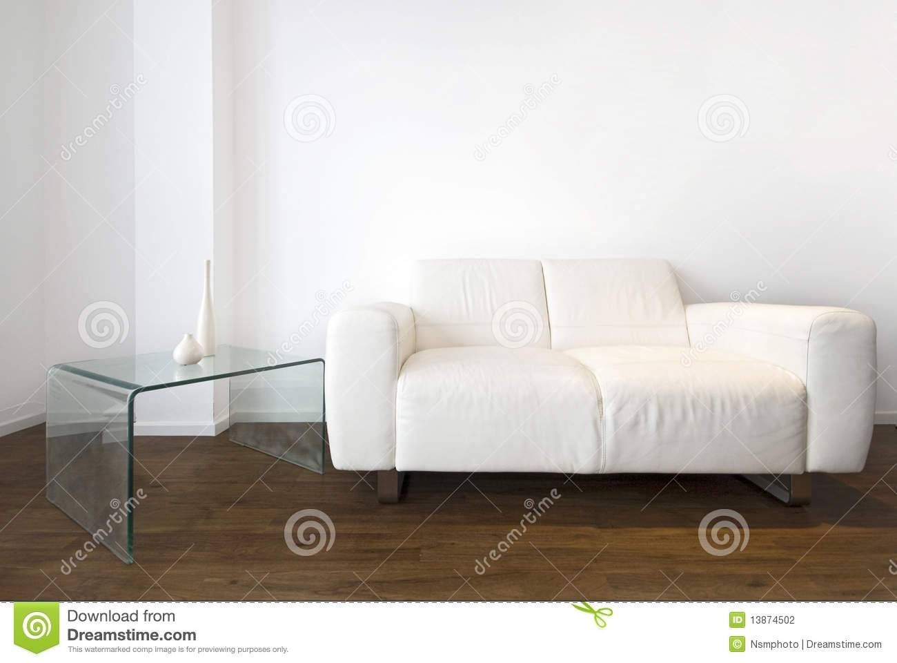 Modern Living Room With White Leather Sofa Royalty Free Stock in White Leather Sofas (Image 14 of 30)