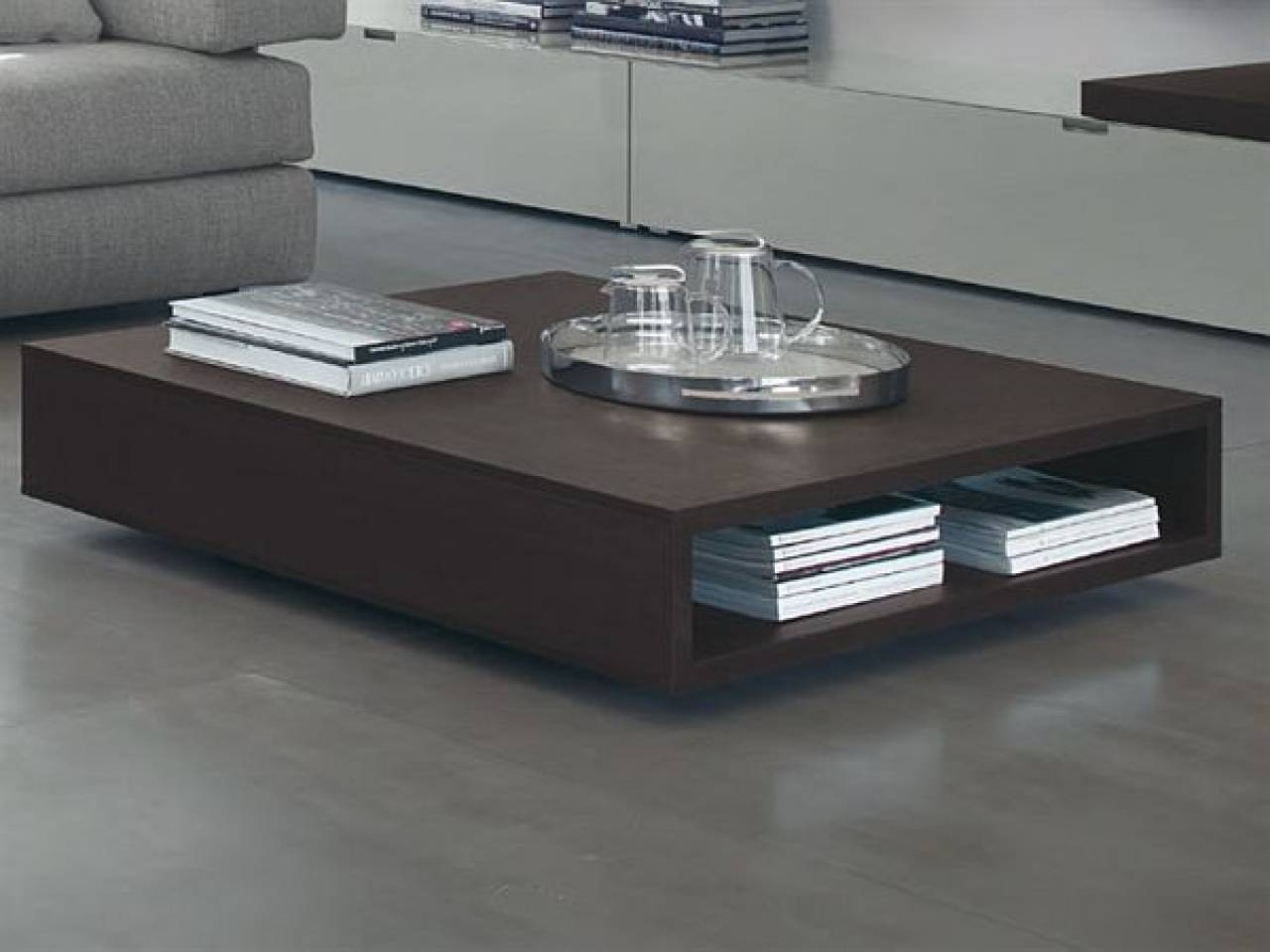 Modern Low Profile Coffee Tables | Coffee Tables Decoration throughout Large Low Square Coffee Tables (Image 29 of 30)