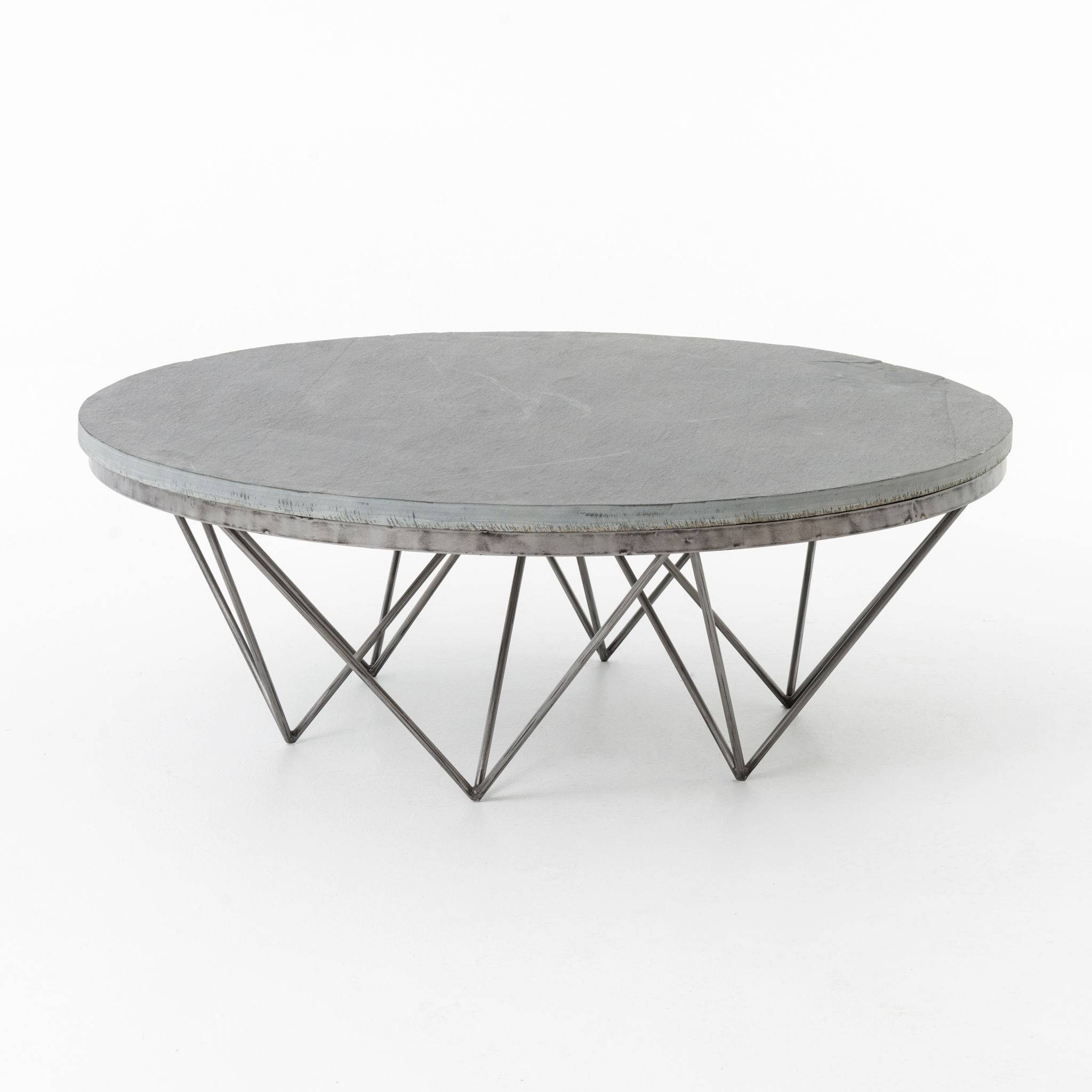 Modern Metal Coffee Table Bases | Coffee Tables Decoration intended for Round Steel Coffee Tables (Image 16 of 30)