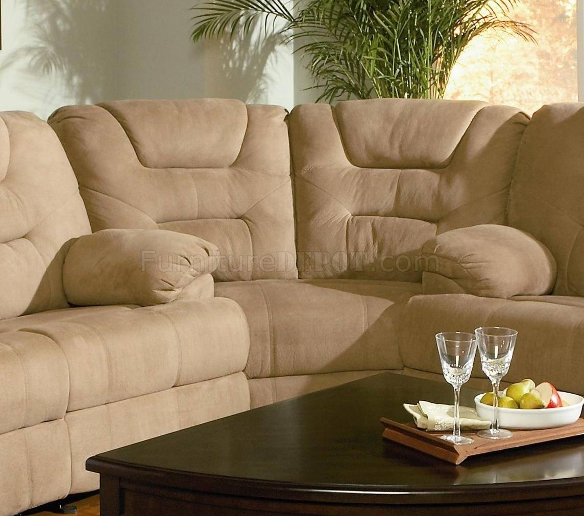 Modern Microfiber Reclining Sectional Sofa 600351 Mocha with Sofas With High Backs (Image 18 of 30)