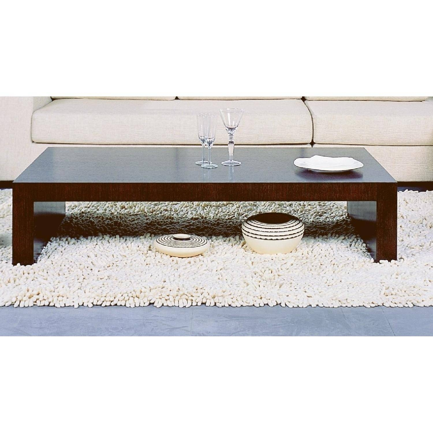 Modern Minimalist Style Coffee Table In Espresso Finish - Aptdeco inside Espresso Coffee Tables (Image 20 of 30)
