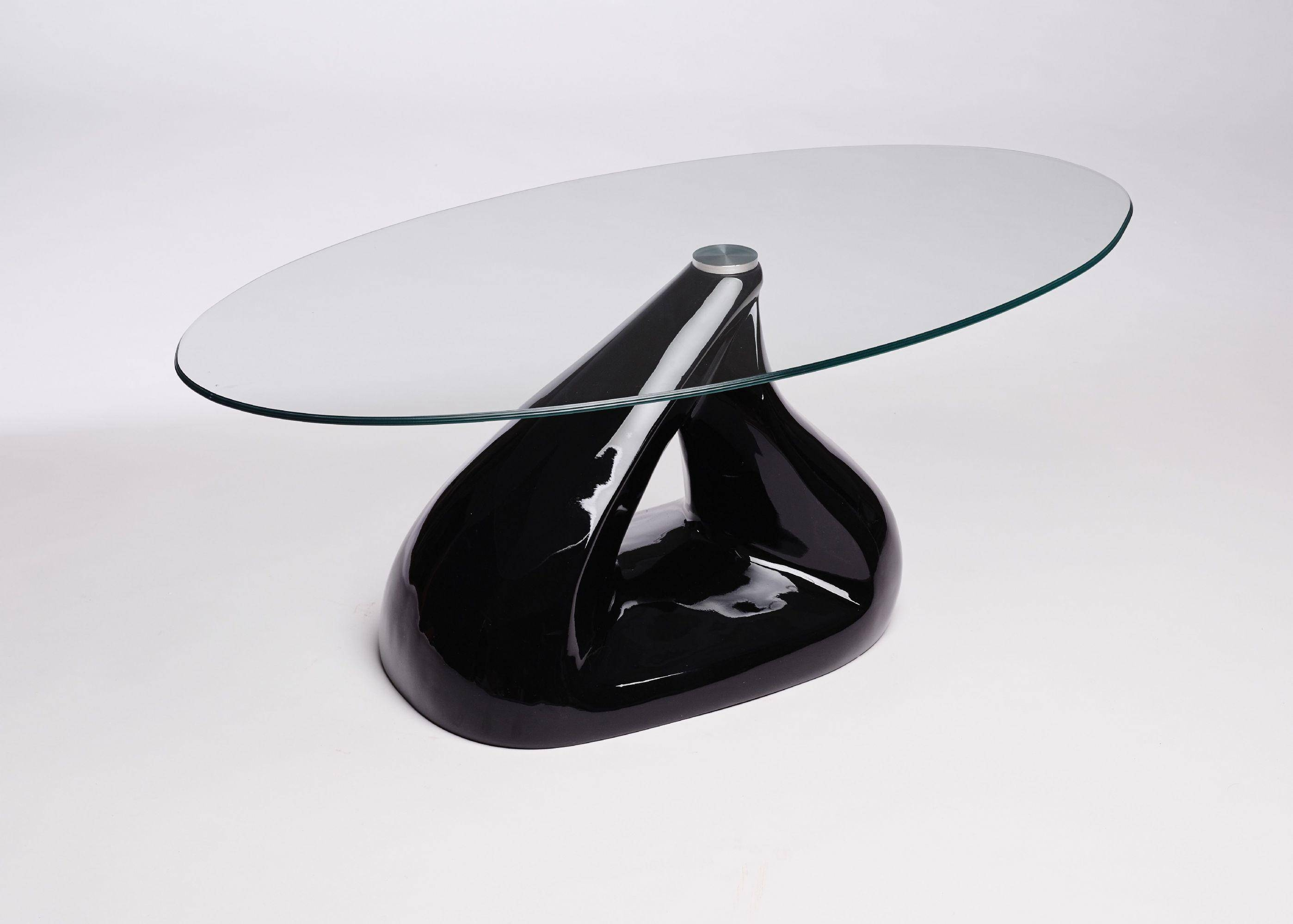 Modern Oval Glass Coffee Table Contemporary Retro Design - Look throughout Oval Black Glass Coffee Tables (Image 22 of 30)