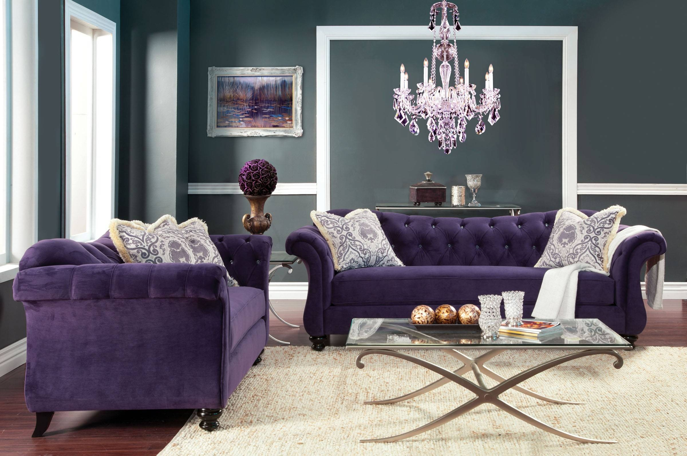 Modern Purple Velvet Sofa Images About Sofas On. Modern Purple with Velvet Purple Sofas (Image 16 of 30)