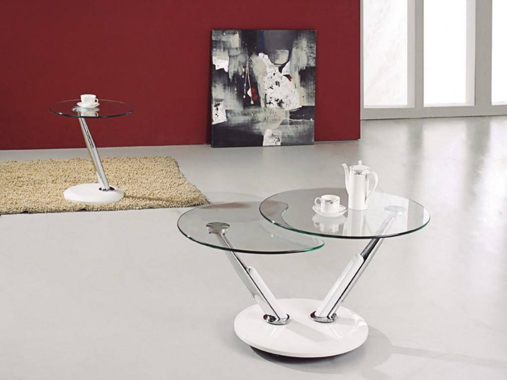 Modern Round Glass Coffee Table Ideas | Home Designjohn for Modern Glass Coffee Tables (Image 27 of 30)