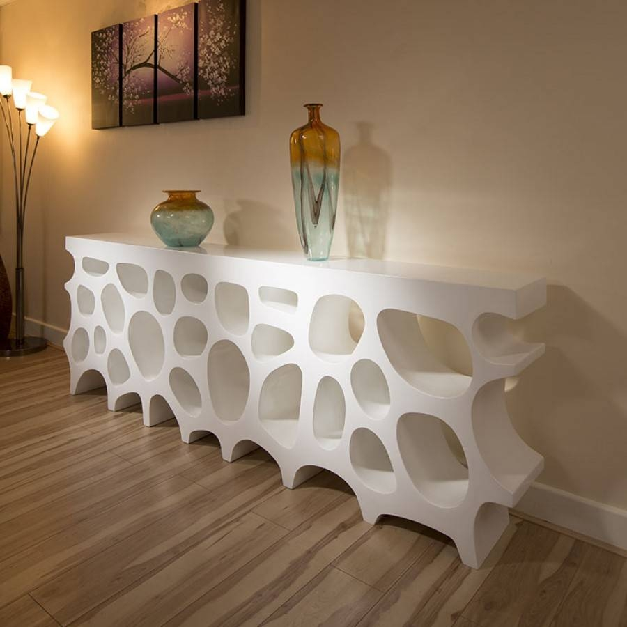Modern Sideboard / Cabinet / Bookcase In White High Gloss 2.5 Mtr for Gloss White Sideboards (Image 19 of 30)