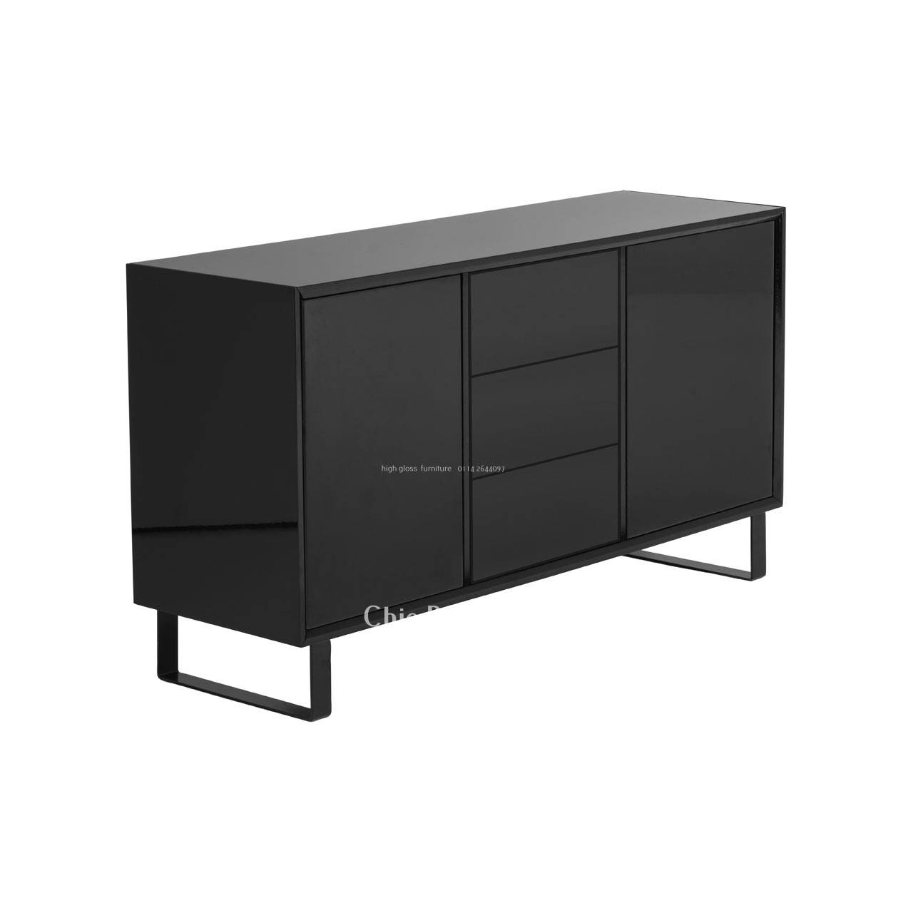 Modern Sideboard. Porto Sideboard. 12 Mid Century Modern Sideboard pertaining to Black Gloss Sideboards (Image 23 of 30)