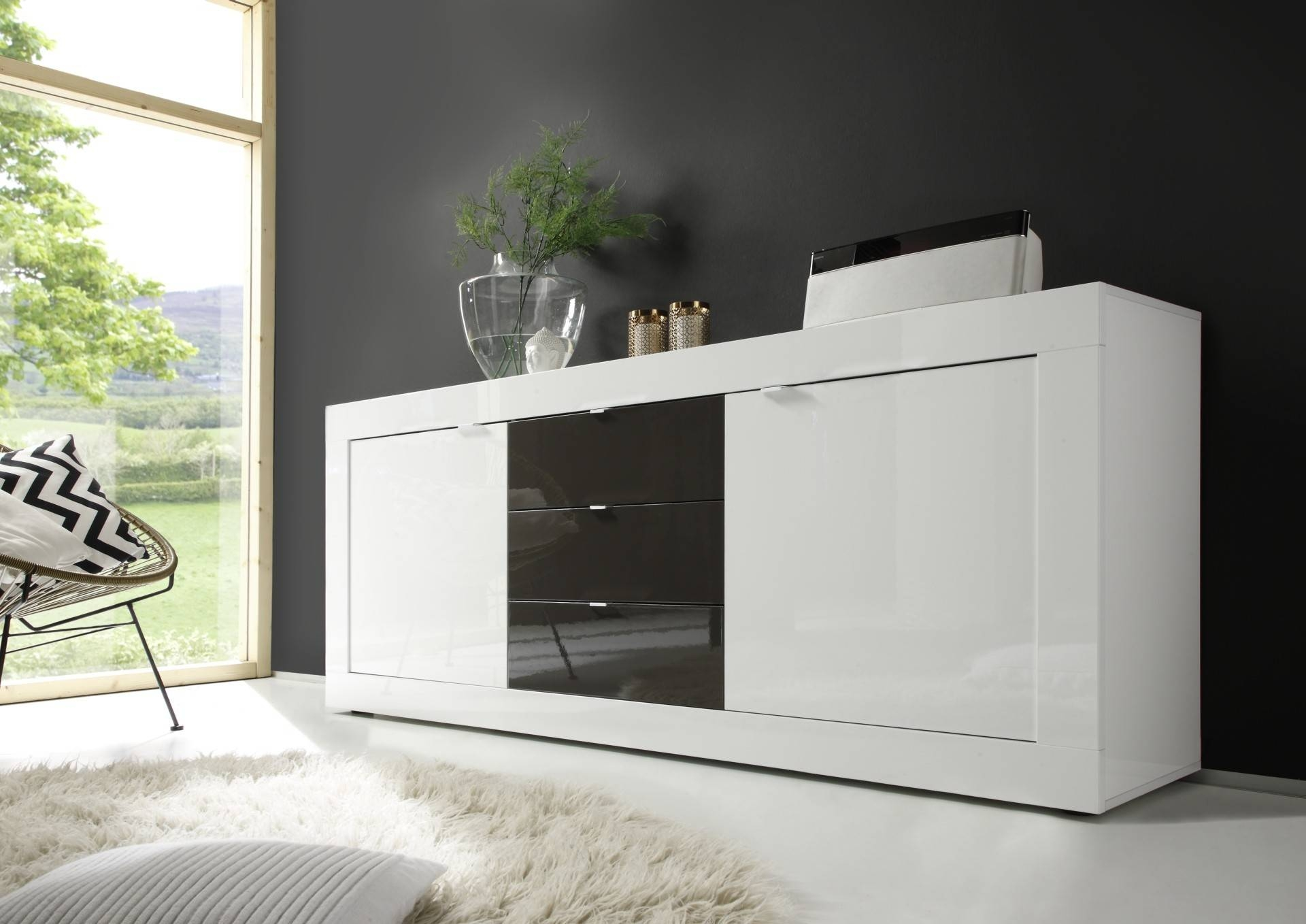 Modern Sideboards - Page 2 - Sena Home Furniture for Grey Gloss Sideboards (Image 15 of 30)