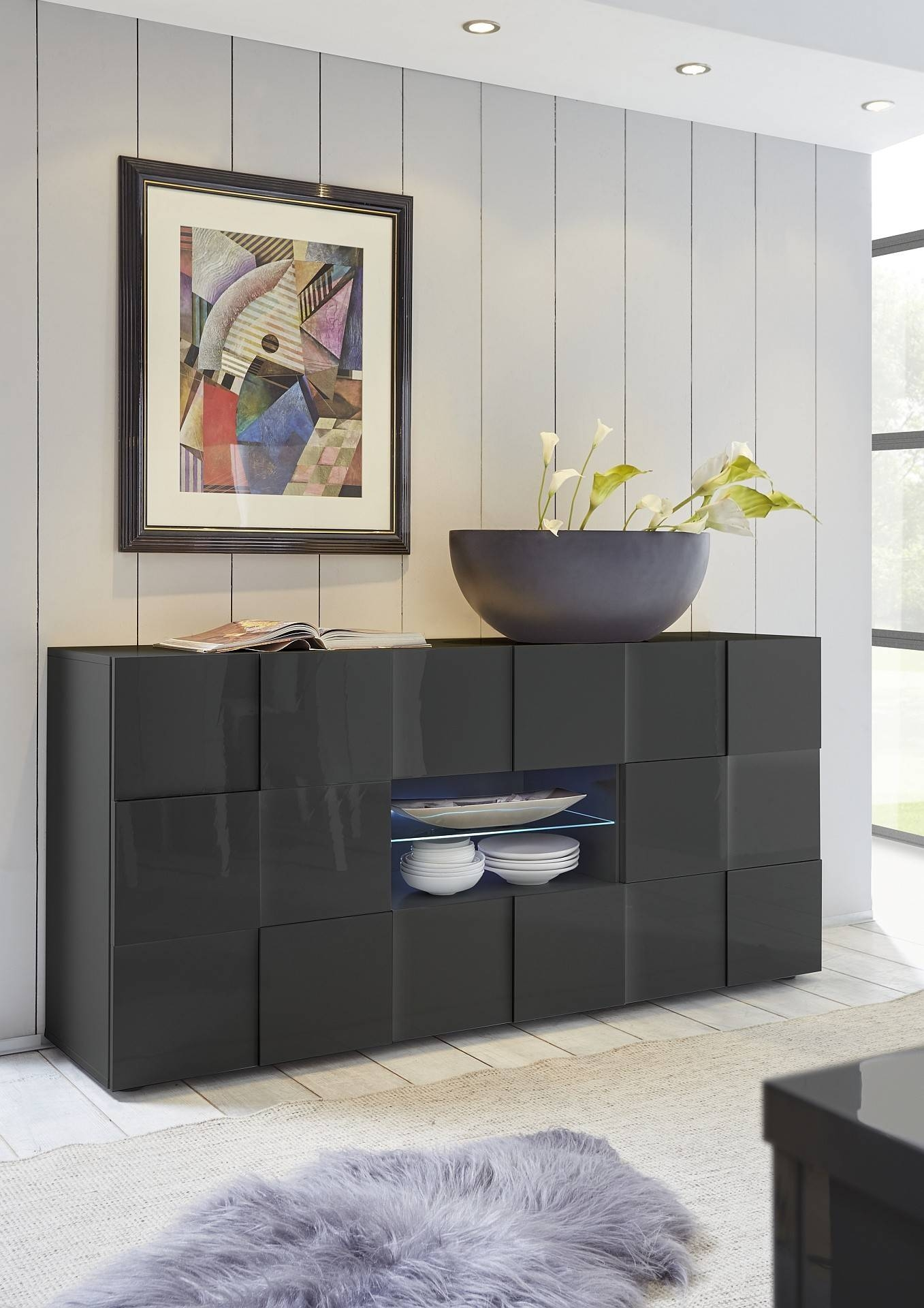 Modern Sideboards Uk - Page 2 - Sena Home Furniture for Grey Gloss Sideboards (Image 16 of 30)