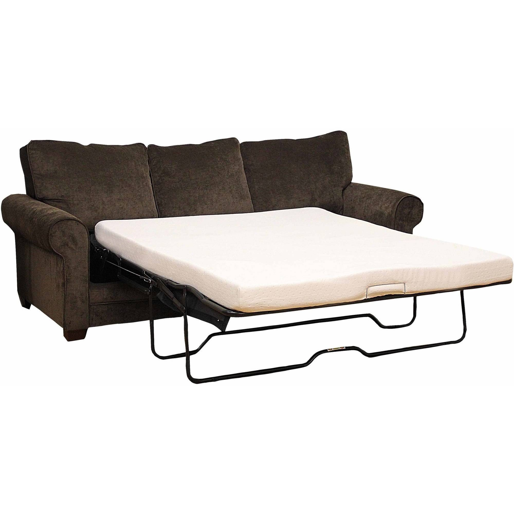 "Modern Sleep Memory Foam 4.5"" Sofa Bed Mattress, Multiple Sizes throughout Sofas With Beds (Image 13 of 30)"
