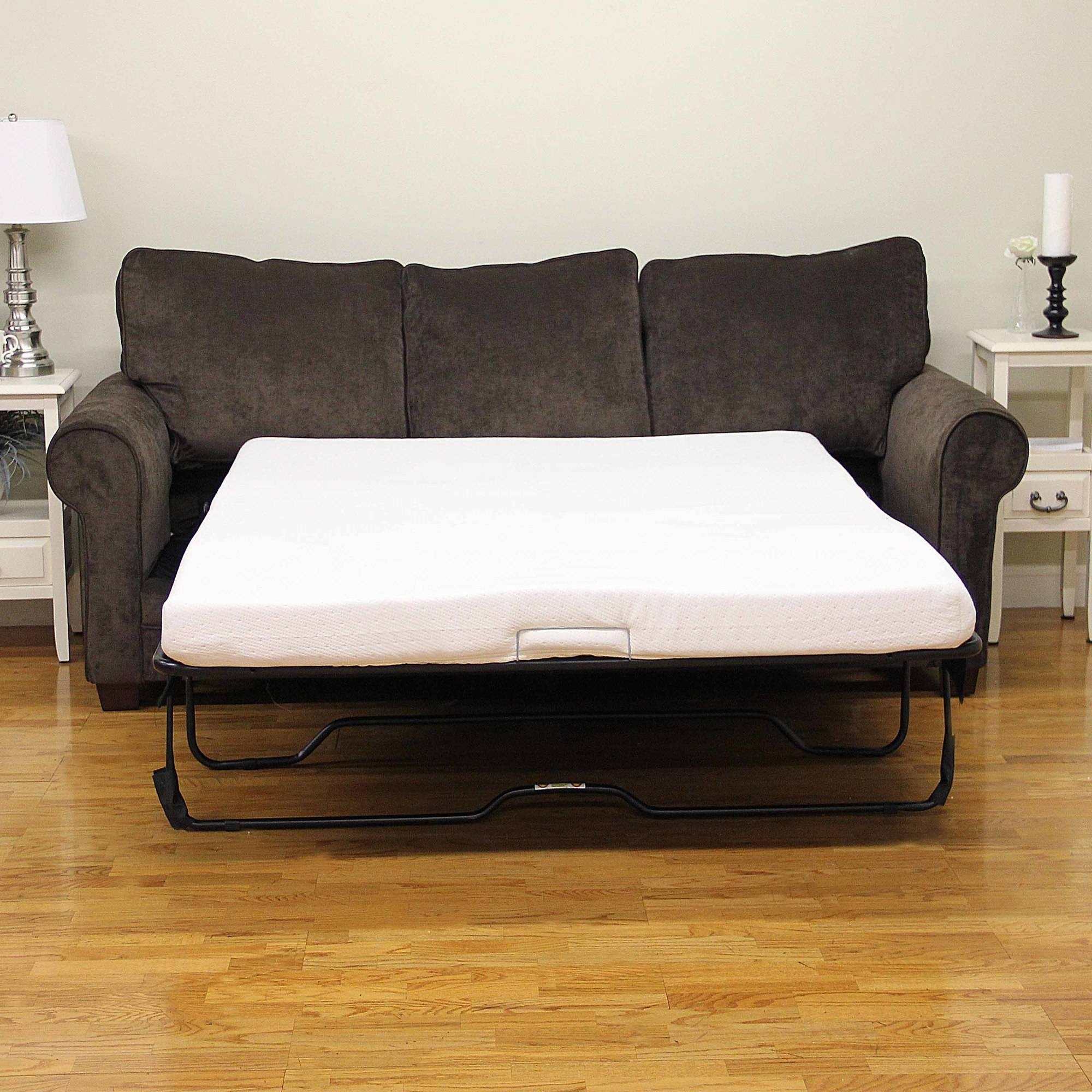"Modern Sleep Memory Foam 4.5"" Sofa Bed Mattress, Multiple Sizes within Pull Out Queen Size Bed Sofas (Image 18 of 30)"
