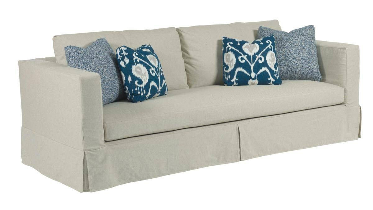 Modern Slipcover Sofa With Kick Pleat Skirtkincaid Furniture intended for Contemporary Sofa Slipcovers (Image 24 of 30)
