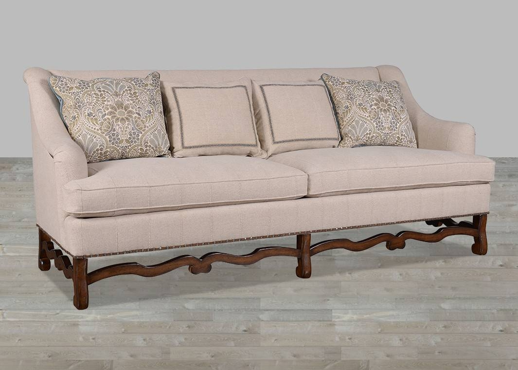 Modern Traditional Hemp Fabric Sofa With Huston's Arroyo Finish pertaining to Traditional Fabric Sofas (Image 15 of 30)