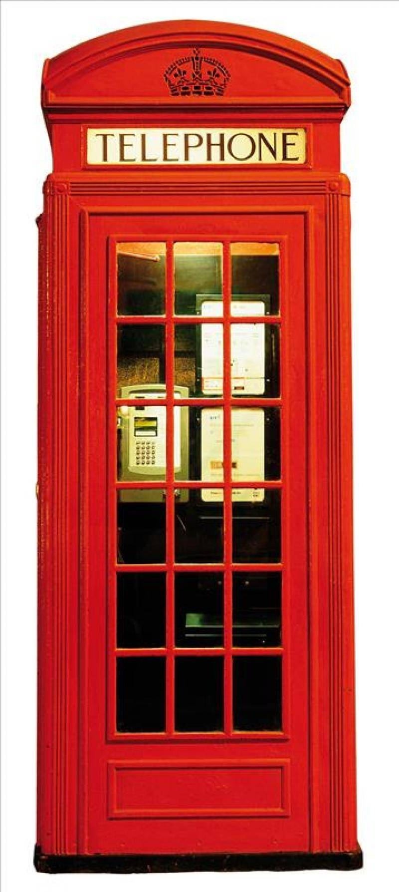 Modern Wall Sticker Of High Definition London Red Phone Box pertaining to Telephone Box Wardrobes (Image 9 of 15)
