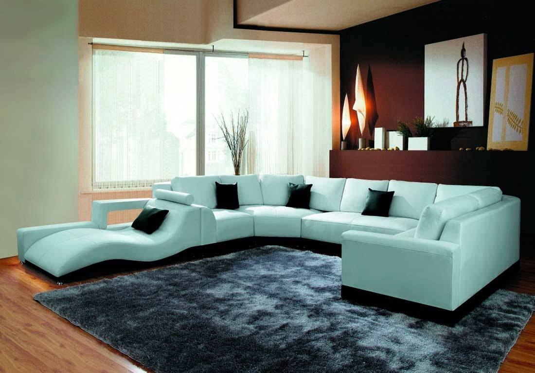 Modern White Eco Leather Sectional Sofa Vg64 | Leather Sectionals regarding Modern Sofas Sectionals (Image 23 of 30)