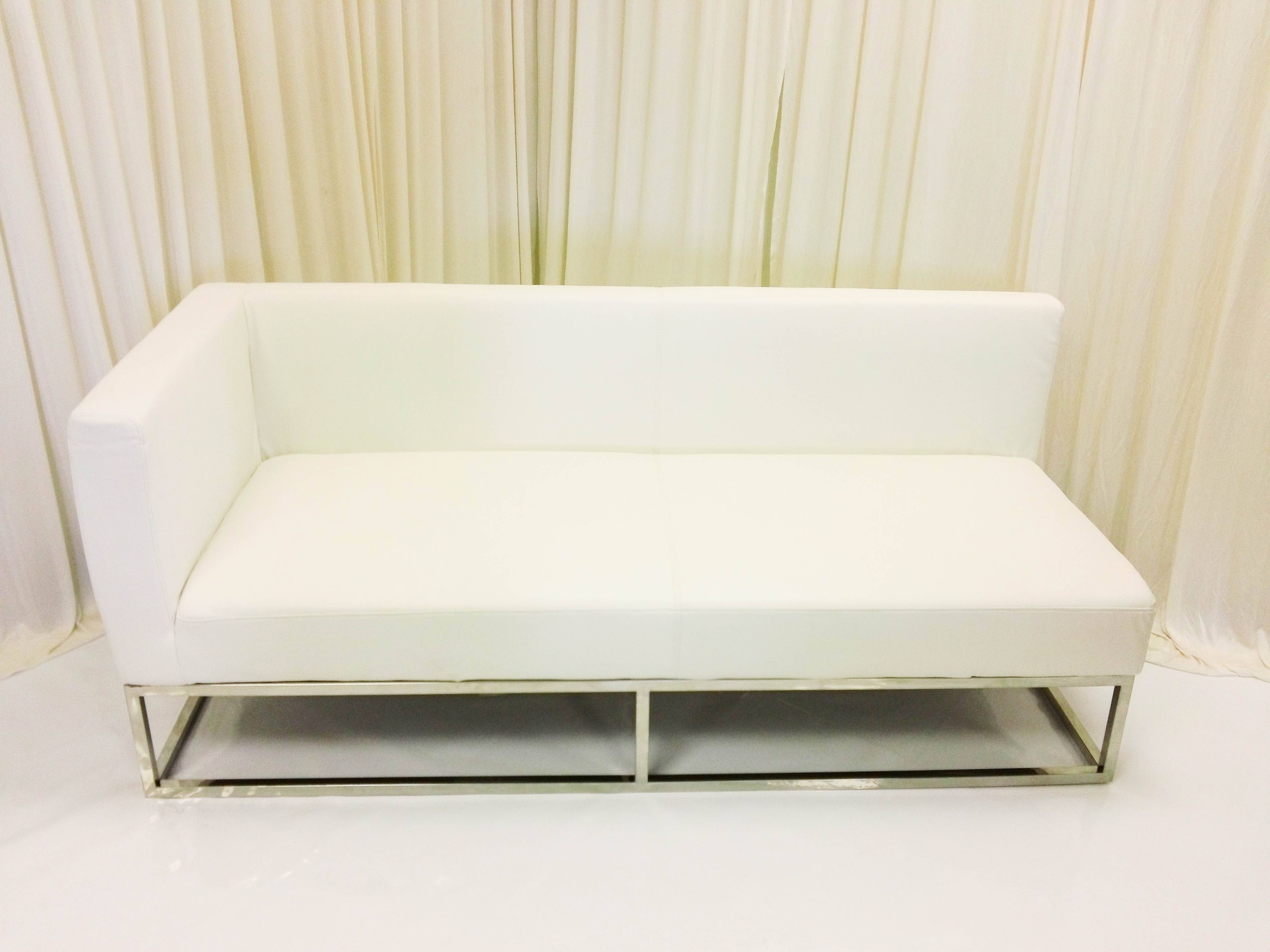 Modern-White-Leather-Right-Arm-Bench-Sofa-Modern-Event-Rental-Modern-Leather -Loveseat-5F7461A447A1062D regarding Leather Bench Sofas (Image 20 of 30)