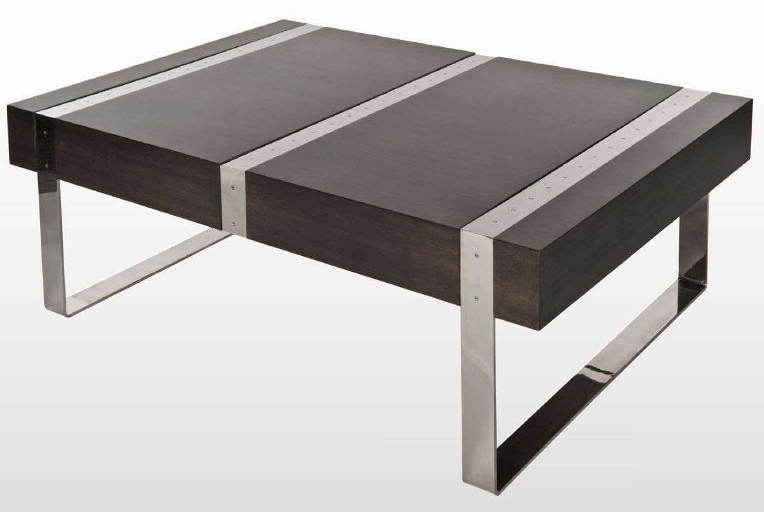 Modern Wood And Metal Coffee Table | Coffee Tables Decoration regarding Metal Coffee Tables (Image 27 of 30)