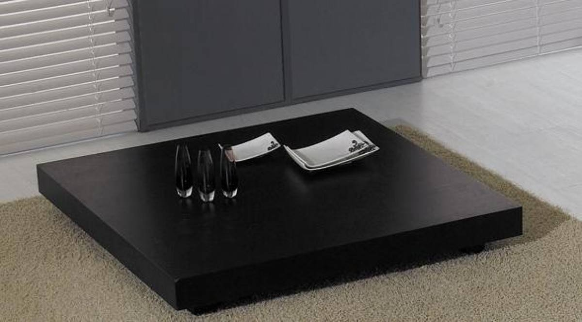 Modrest T35 Modern Black Oak Coffee Table - Coffee Tables - Living with regard to Low Coffee Tables (Image 26 of 30)