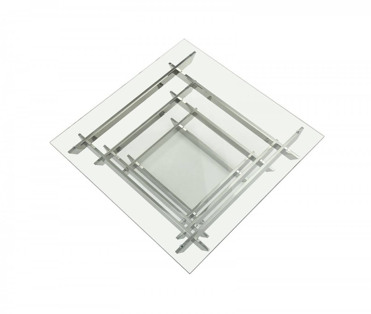 Modrest Upton Modern Square Glass Coffee Table - Coffee Tables with regard to Modern Square Glass Coffee Tables (Image 9 of 15)